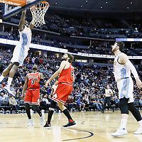 22 November 2016: Denver Nuggets forward Kenneth Faried (35) goes for the dunk during the Denver Nuggets 110-107 victory over the Chicago Bulls, at the Pepsi Center, Denver, Colorado, USA.