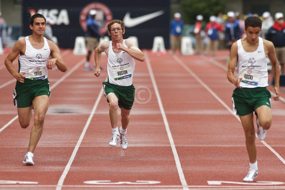 Olympic Trials Eugene 2012: Special Olympics 100 meter race