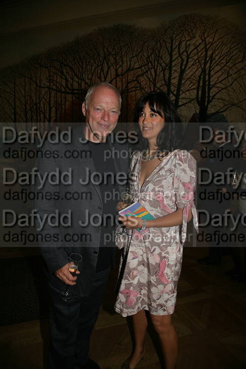 DAVID GILMOUR AND POLLY SAMPSON, Royal  Academy of  Arts summer exhibition opening night. Royal academy. Piccadilly. London. 6 June 2007.  -DO NOT ARCHIVE-© Copyright Photograph by Dafydd Jones. 248 Clapham Rd. London SW9 0PZ. Tel 0207 820 0771. www.dafjones.com.