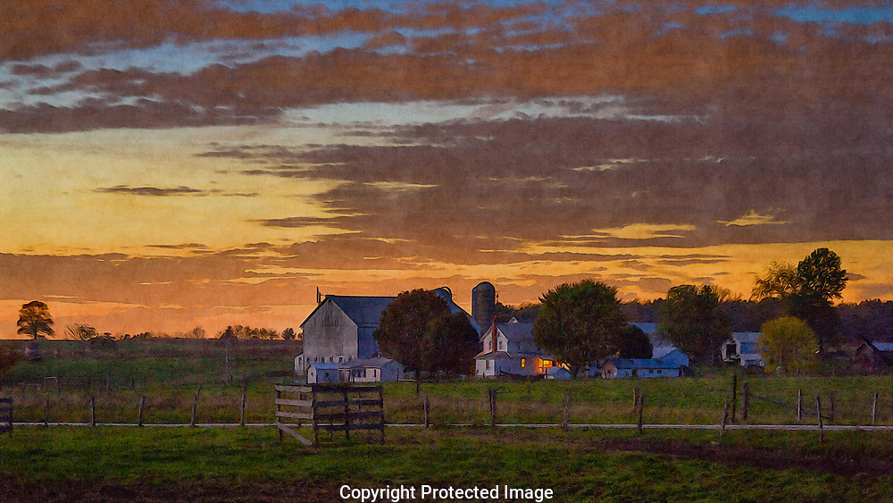 An Amish Farm along Heather Heights Road near New Wilmington, PA.