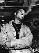 Guru of Gang Starr, recording 'Jazzmatazz, volume 1' EMI Studios, London, 1993