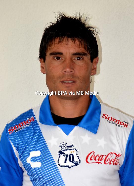 Mexico League - BBVA Bancomer MX 2014-2015 - <br /> Camoteros - Puebla F&uacute;tbol Club / Mexico - <br /> Matias Alustiza