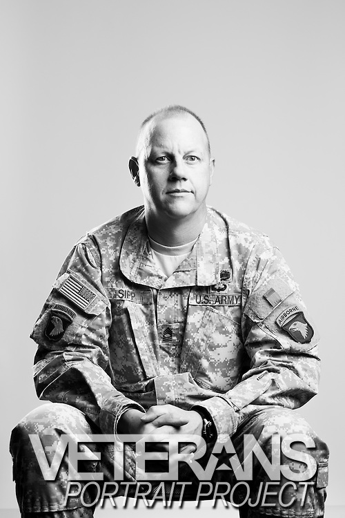Brian S. Sipp<br /> Army<br /> E-8<br /> Public Affairs Officer<br /> Feb. 14, 1998 - Present<br /> OIF, OEF, Desert Storm<br /> <br /> Veterans Portrait Project<br /> Clarksville, TN