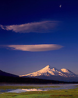 Morning light on Mount Shasta from Grassy Lake, Klamath National Forest California USA