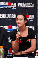 Rachel Joyce (GRB). Official Pre-Race Press Conference. 2012 Ironman Melbourne. Asia-Pacific Championship. Hosted By USM Events. 22/03/2012. Photo By Lucas Wroe.