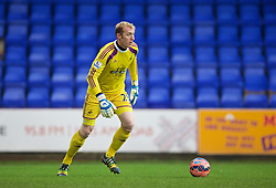 BIRKENHEAD, ENGLAND - Saturday, January 3, 2015: Swansea City's goalkeeper Gerhard Tremmel in action against Tranmere Rovers during the FA Cup 3rd Round match at Prenton Park. (Pic by David Rawcliffe/Propaganda)
