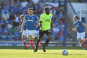 Peterborough United Midfielder, Anthony Grant (42) holds up the ball Portsmouth Midfielder, Ben Close (33) during the EFL Sky Bet League 1 match between Portsmouth and Peterborough United at Fratton Park, Portsmouth, England on 5 May 2018. Picture by Adam Rivers.