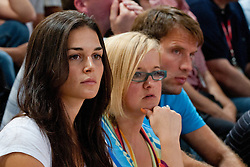 Jaka Lakovic girlfriend Helena Boada (L) and on the right his sister at exhibition game between Slovenia and Poland for Primus Trophy 2011Lithuania as part of exhibition games before European Championship L2011on July 23, 2011, in Ljudski Vrt, Ptuj, Slovenia. (Photo by Matic Klansek Velej / Sportida)
