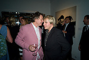DANNY MOYNIHAN; NICK RHODES, Damien Hirst party to preview his exhibition at Sotheby's. New Bond St. London. 12 September 2008 *** Local Caption *** -DO NOT ARCHIVE-© Copyright Photograph by Dafydd Jones. 248 Clapham Rd. London SW9 0PZ. Tel 0207 820 0771. www.dafjones.com.