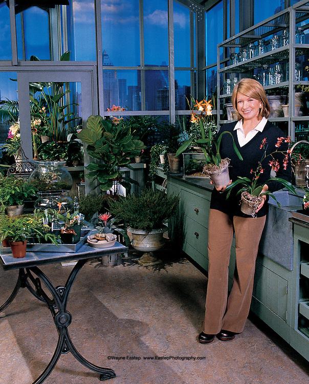 Martha Stewart in Greenhouse, NYC