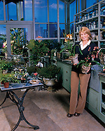 Martha Stewart in Greenhouse, NYC