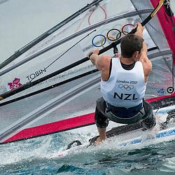 2012 Olympic Games London / Weymouth<br /> RSX man racing day 1 <br /> RS:X MenNZLTobin Jon-Paul
