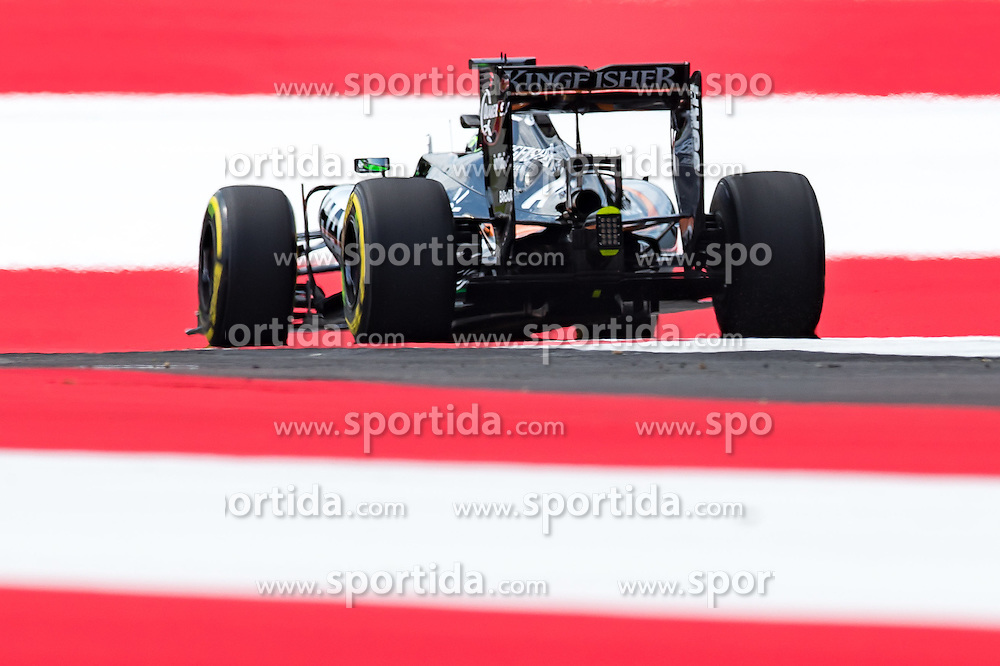 01.07.2016, Red Bull Ring, Spielberg, AUT, FIA, Formel 1, Grosser Preis von Österreich, Training, im Bild Sergio Perez (MEX) Sahara Force India F1 Team // Mexican Formula One driver Sergio Perez of Sahara Force India F1 Team during the Trainings for the Austrian Formula One Grand Prix at the Red Bull Ring in Spielberg, Austria on 2016/07/01. EXPA Pictures © 2016, PhotoCredit: EXPA/ JOHANN GRODER