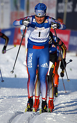 CHANGCHUN, CHINA - SUNDAY, FEBRUARY 25th, 2007: Shapovalova Evgenia of Russia competes to win the gold medal in the ladies' 1.1 km sprint race at the 2007 FIS World Cup cross-country skiing event. (Pic by Osports/Propaganda)