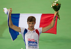 Christophe Lemaitre of France wins gold in the Mens 100m Final during day two of the 20th European Athletics Championships at the Olympic Stadium on July 28, 2010 in Barcelona, Spain. (Photo by Vid Ponikvar / Sportida)