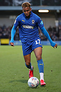 AFC Wimbledon attacker Julien Lamy (17) dribbling during the EFL Sky Bet League 1 match between AFC Wimbledon and Fleetwood Town at the Cherry Red Records Stadium, Kingston, England on 8 February 2020.