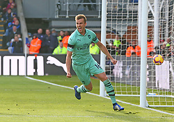 October 28, 2018 - London, England, United Kingdom - London, England - October 28, 2018.Rob Holding of Arsenal celebrates Granit Xhaka of Arsenal goal.during Premier League between Crystal Palace and Arsenal at Selhurst Park stadium , London, England on 28 Oct 2018. (Credit Image: © Action Foto Sport/NurPhoto via ZUMA Press)