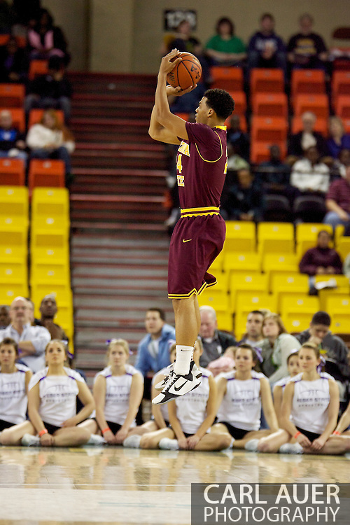 November 26th, 2010:  Anchorage, Alaska - Sun Devil sophomore guard Trent Lockett attempts a shot in Arizona State's 59-58 victory over Weber State at the Great Alaska Shootout...