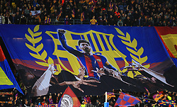 A Lionel Messi banner hangs at the Camp Nou Stadium before kick off - Mandatory by-line: Matt McNulty/JMP - 14/03/2018 - FOOTBALL - Camp Nou - Barcelona, Catalonia - Barcelona v Chelsea - UEFA Champions League - Round of 16 Second Leg