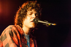 © Licensed to London News Pictures. 06/05/2015. London, UK.   Tobias Jesso Jr performing live at The Courtyard.   Jesso performed on the british television programme 'Later… with Jools Holland' this week on May 5th, performing his song 'Without You' from his debut album 'Goon'.  Tobias Jesso Jr. is a Canadian singer-songwriter, his debut album 'Goon' was released on March 17 and has received 4/5 star reviews from Q/Mojo/The Guardian/Telegraph/Pitchfork/Drowned in Sound amongst others.  The album was produced with Patrick Carney (from the Black Keys) along with collaboration from Danielle Haim (Haim drummer).  Adele is known to have tweeted a link to Jesso's song 'How Could You Babe', reportedly her only tweet this year so far.  Photo credit : Richard Isaac/LNP