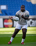 Trevor Nyakane during the South Africa Captain's Run training session in preparation for the Rugby World Cup at the American Express Community Stadium, Brighton and Hove, England on 18 September 2015. Photo by David Charbit.