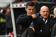 Joey Barton, Manager of Fleetwood Town before the EFL Sky Bet League 1 match between Doncaster Rovers and Fleetwood Town at the Keepmoat Stadium, Doncaster, England on 6 October 2018.