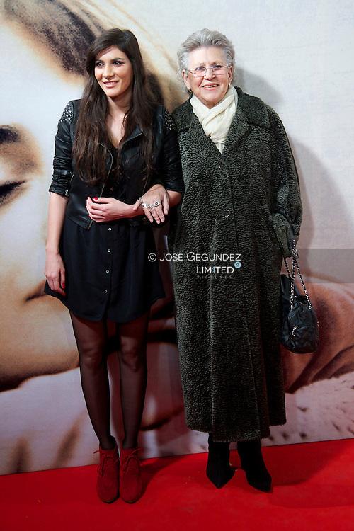 Cecilia Gessa and Pilar Bardem attend 'Venuto Al Mondo' Premiere at Capitol Cinema in Madrid