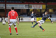 Dundee's Kevin Thomson fires in a shot - Dundee v Ross County, SPFL Premiership at Dens Park<br /> <br />  - &copy; David Young - www.davidyoungphoto.co.uk - email: davidyoungphoto@gmail.com