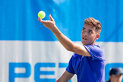 Mark Andrejic (SLO) play against Anze Arh (SLO) during qualification round at ATP Challenger Zavarovalnica Sava Slovenia Open 2018, on August 4, 2018 in Sports centre, Portoroz/Portorose, Slovenia. Photo by Urban Urbanc / Sportida