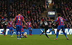 Bournemouth's Jermain Defoe scores the opening goal of the game during the Premier League match at Selhurst Park, London.