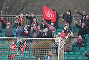 Whitehawk Ultras during the FA Trophy match between Whitehawk FC and Dover Athletic at the Enclosed Ground, Whitehawk, United Kingdom on 12 December 2015. Photo by Bennett Dean.