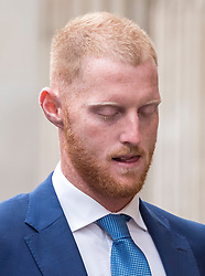 © Licensed to London News Pictures. 09/08/2018. Bristol, UK. BEN STOKES with his wife CLARE RATCLIFFE arrives at Bristol Crown court today for the fourth day of his trial on charges of affray that relate to a fight outside a Bristol nightclub on September 25 2017. England cricketer Ben Stokes and two other men, Ryan Ali, 28, and Ryan Hale, 27, all deny the charge. Stokes, Ali and Hale are jointly charged with affray in the Clifton Triangle area of Bristol on September 25 last year, several hours after England had played a one-day international against the West Indies in the city. A 27-year-old man allegedly suffered a fractured eye socket in the incident. Photo credit: Simon Chapman/LNP