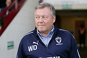 Wimbledon Manager Wally Downes  during the EFL Sky Bet League 1 match between Scunthorpe United and AFC Wimbledon at Glanford Park, Scunthorpe, England on 30 March 2019.