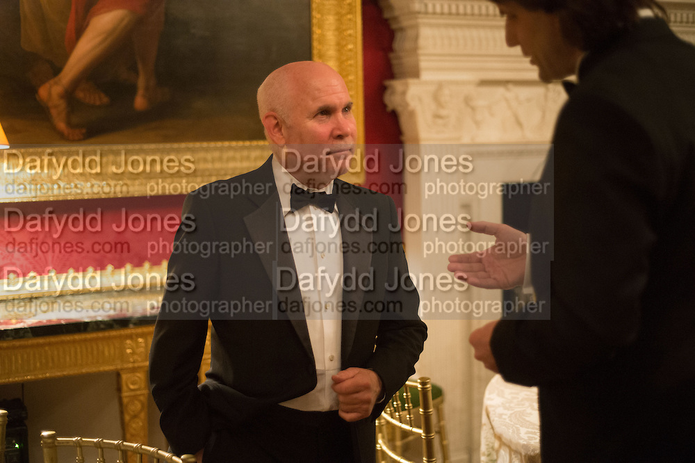 STEVE MCCURRY, Professor Mikhail Piotrovsky Director of the State Hermitage Museum, St. Petersburg and <br /> Inna Bazhenova Founder of In Artibus and the new owner of the Art Newspaper worldwide<br /> host THE HERMITAGE FOUNDATION GALA BANQUET<br /> GALA DINNER <br /> Spencer House, St. James&rsquo;s Place, London<br /> 15 April 2015