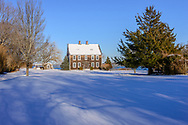 Home in the snow, North Haven, NY