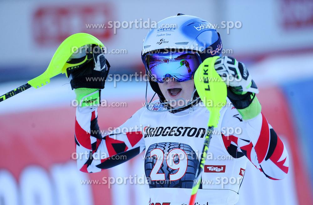 29.12.2015, Hochstein, Lienz, AUT, FIS Weltcup Ski Alpin, Lienz, Slalom, Damen, 2. Durchgang, im Bild Katharina Truppe (AUT) // Katharina Truppe of Austria reacts after 2nd run of ladies Slalom of the Lienz FIS Ski Alpine World Cup at the Hochstein in Lienz, Austria on 2015/12/29. EXPA Pictures © 2015, PhotoCredit: EXPA/ Erich Spiess