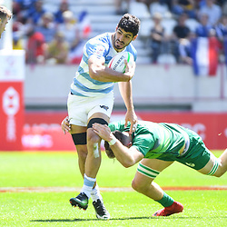 German Schulz of Argentina during the match between Ireland and Argentina at the HSBC Paris Sevens, stage of the Rugby Sevens World Series on June 1, 2019 in Angers, France. (Photo by Sandra Ruhaut/Icon Sport)