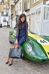 The HON.NADIA MANZOOR at the launch of Dundas London held at Fiskins Classic Car Showroom, 14 Queens Gate Place Mews, London on 25th June 2014.