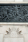 Detail of the bronze frieze designed by Rayner Hoff that adorns the outside walls of the ANZAC War Memorial in Hyde Park, Sydney, Australia