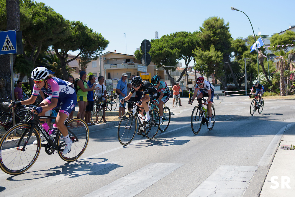 Claudia Lichtenberg with 300 metres to go on Stage 6 of the Giro Rosa - a 116.1 km road race, starting and finishing in Roseto Degli Abruzzi on July 5, 2017, in Teramo, Italy. (Photo by Sean Robinson/Velofocus.com)