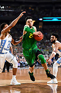 GLENDALE, AZ - APRIL 01: Casey Benson #2 of the Oregon Ducks runs up the lane during the 2017 NCAA Men's Final Four Semifinal against the North Carolina Tar Heels at University of Phoenix Stadium on April 1, 2017 in Glendale, Arizona.  (Photo by Brett Wilhelm/NCAA Photos via Getty Images) *** Local Caption *** Casey Benson
