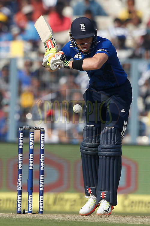 Sam Billings of England beats during the third One Day International (ODI) between India and England  held at Eden Gardens in Kolkata on the 22nd January 2017<br /> <br /> Photo by: Deepak Malik/ BCCI/ SPORTZPICS