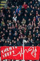 DEN HAAG - ADO Den Haag - FC Twente , Voetbal , Seizoen 2015/2016 , Eredivisie , Kyocera Stadion , 04-03-2016 , Spandoek Twente leeft