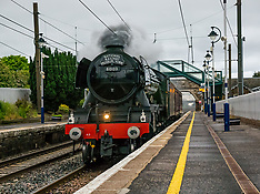 Flying Scotsman heads south, Drem, 27 May 2019