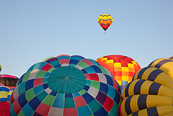 """Hot Air Balloons 1"" - These hot air balloons were photographed during the 2011 Great Reno Balloon Race."