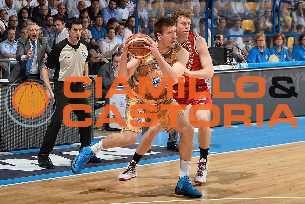 DESCRIZIONE : Campionato 2014/15 Acqua Vitasnella Cantu' - EA7 Emporio Armani Olimpia MIlano<br /> GIOCATORE : Ivan Buva<br /> CATEGORIA : esultanza<br /> SQUADRA : Acqua Vitasnella Cantu'<br /> EVENTO : LegaBasket Serie A Beko 2014/2015<br /> GARA : Acqua Vitasnella Cantu' - EA7 Emporio Armani Olimpia MIlano<br /> DATA : 16/04/2015<br /> SPORT : Pallacanestro <br /> AUTORE : Agenzia Ciamillo-Castoria/R.Morgano<br /> Predefinita :