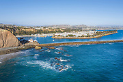 Dana Point Harbor Aerial View From Pacific Ocean