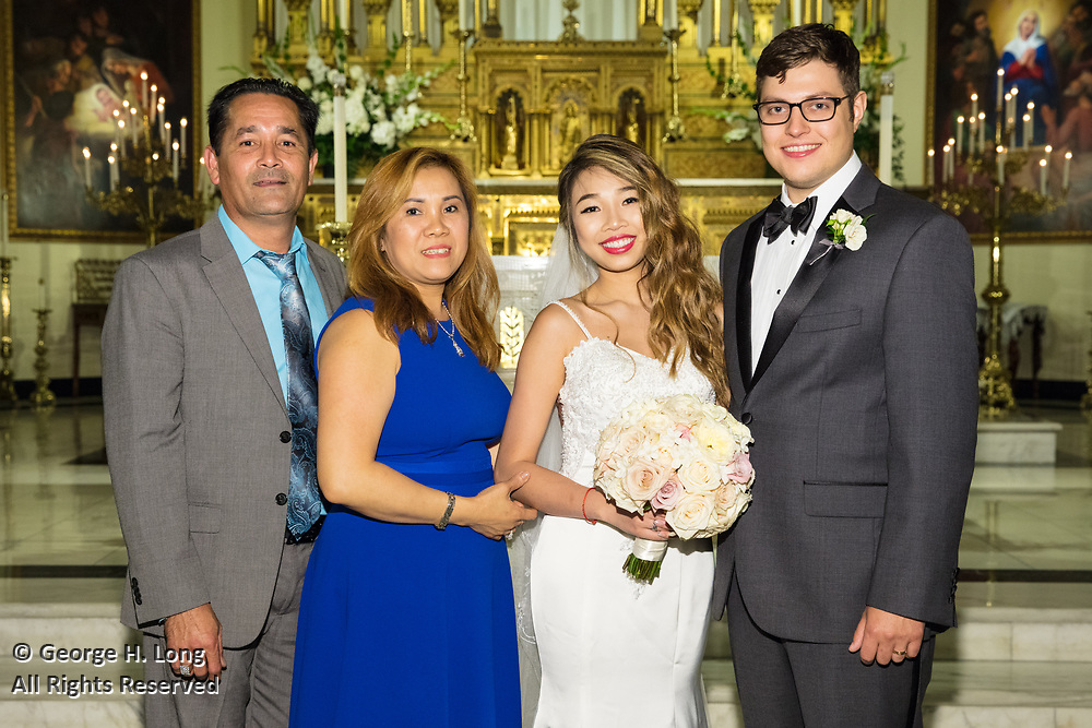 The wedding of Amy Ngo and Christian Charvet on June 16, 2018