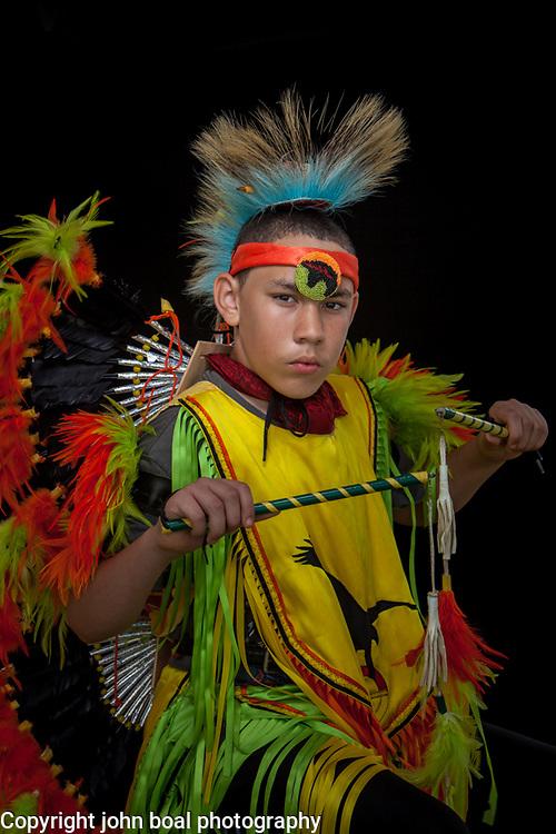 Adam Hamilton, Monacan.  Portraits at the Monacan Powwow.  Elon, VA.  Saturday, May 16, 2015.  John Boal Photography