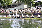 Henley, Great Britain.  Henley Royal Regatta. M8+,  Amsterdamsche Studenten Roeivereeniging Nereus, NED, row past Stewards' Enclosure, as they lead University of Virginia, USA, in the semi-final, of the Temple Challenge Cup. River Thames Henley Reach.  Royal Regatta. River Thames Henley Reach.  Saturday  02/07/2011  [Mandatory Credit  Intersport Images] . HRR